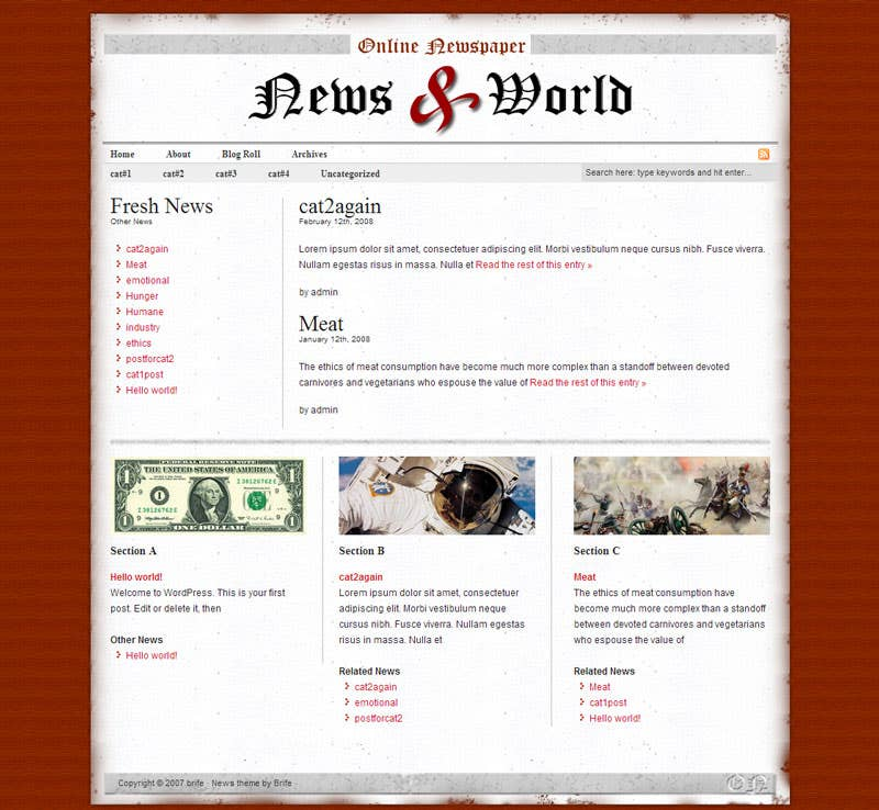 Wordpress Newspaper Site
