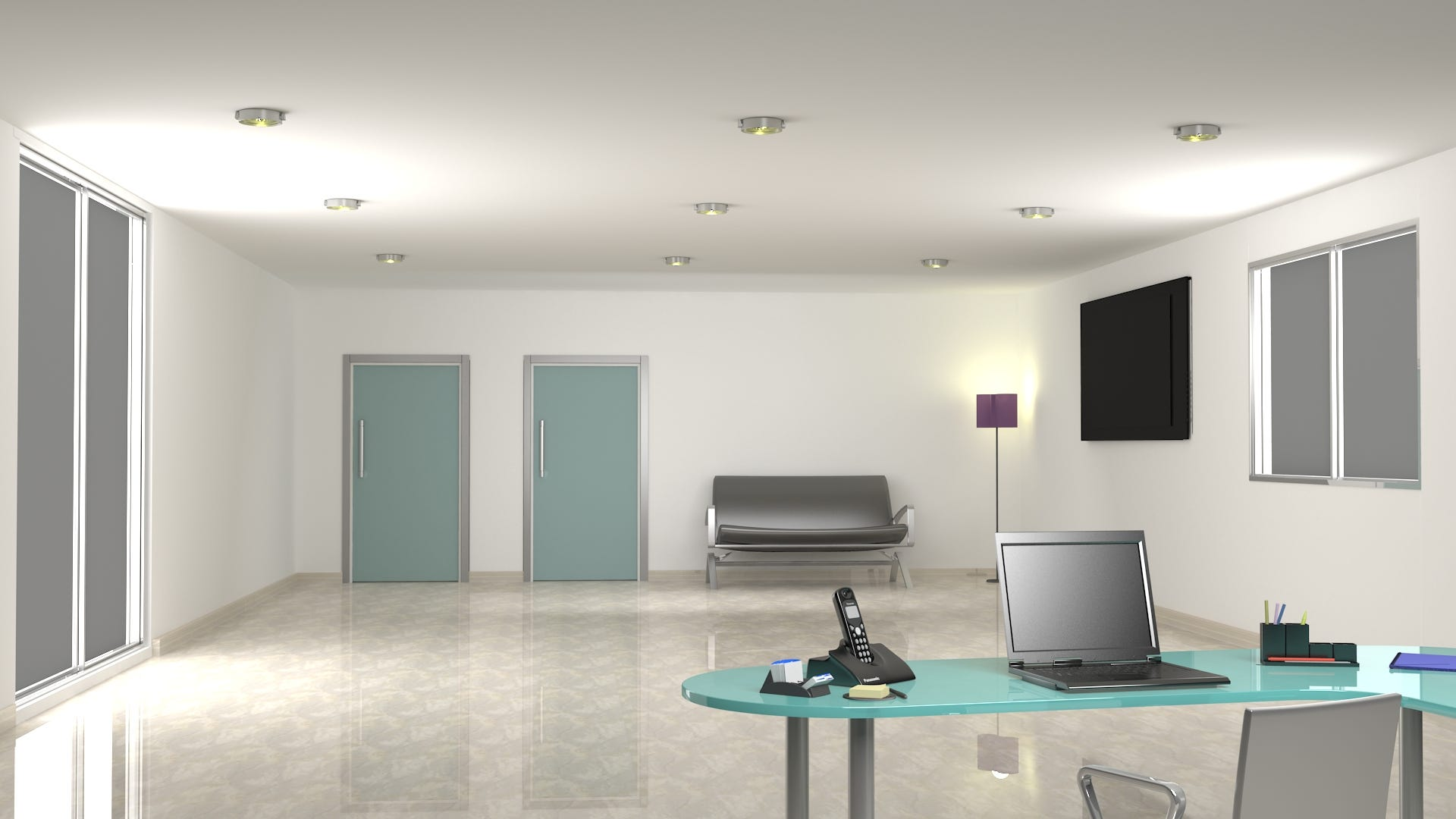 3D Model of a waiting room