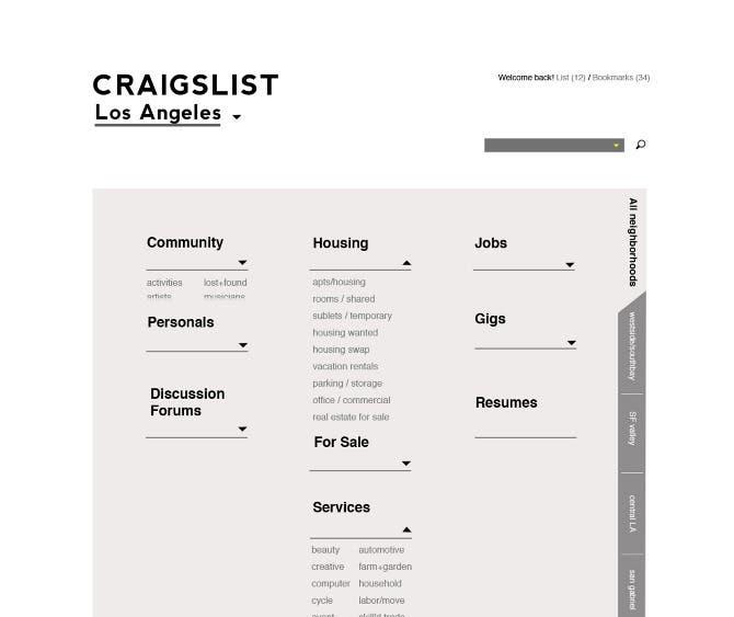 Craigslist portfolio