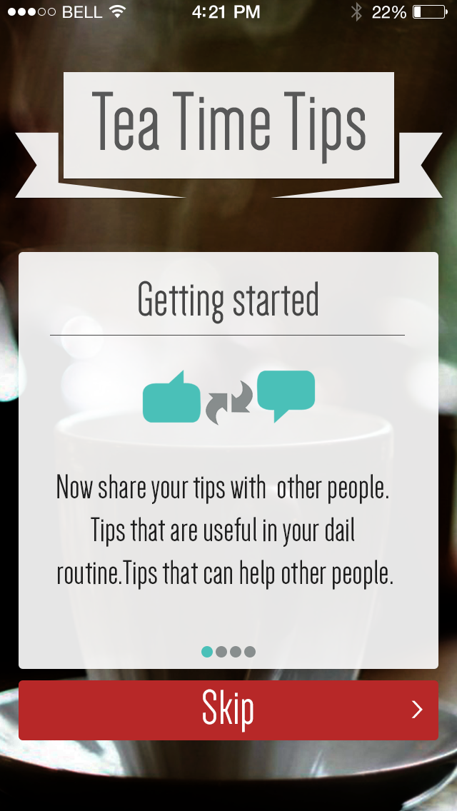 Tea Time Tips iPhone App