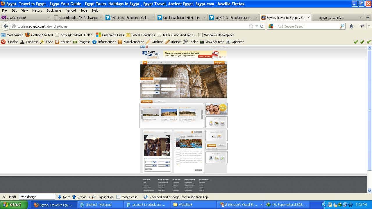 Tourism Website