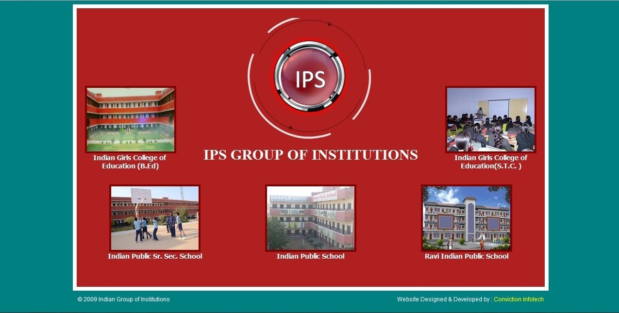 Web site for Indian Public School