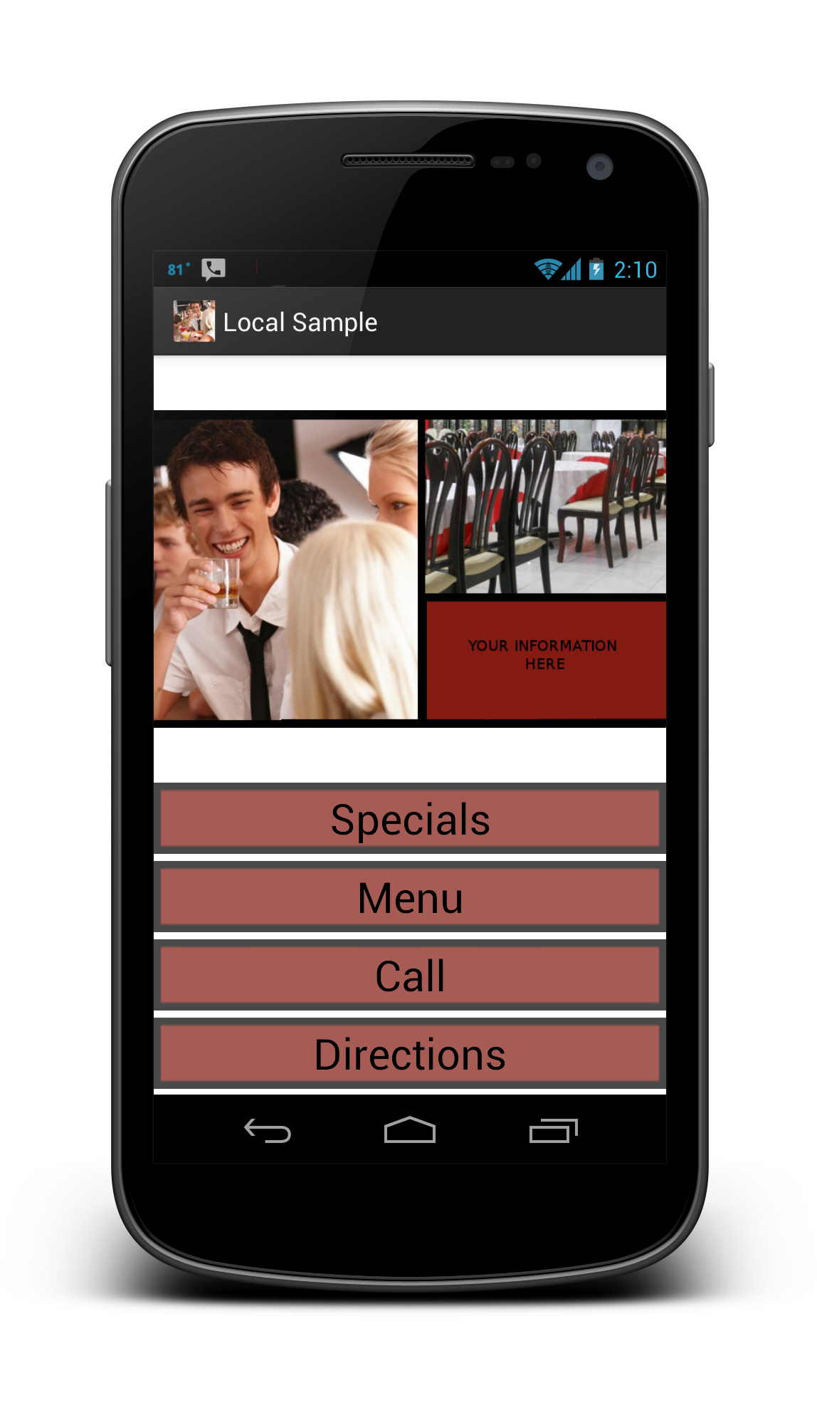 Turnkey Android App for Local Business