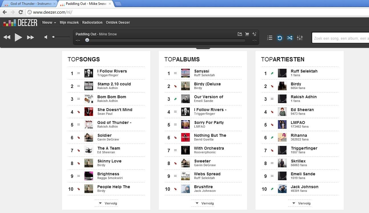 Deezer.com Number1 Album in 2nd week of march!
