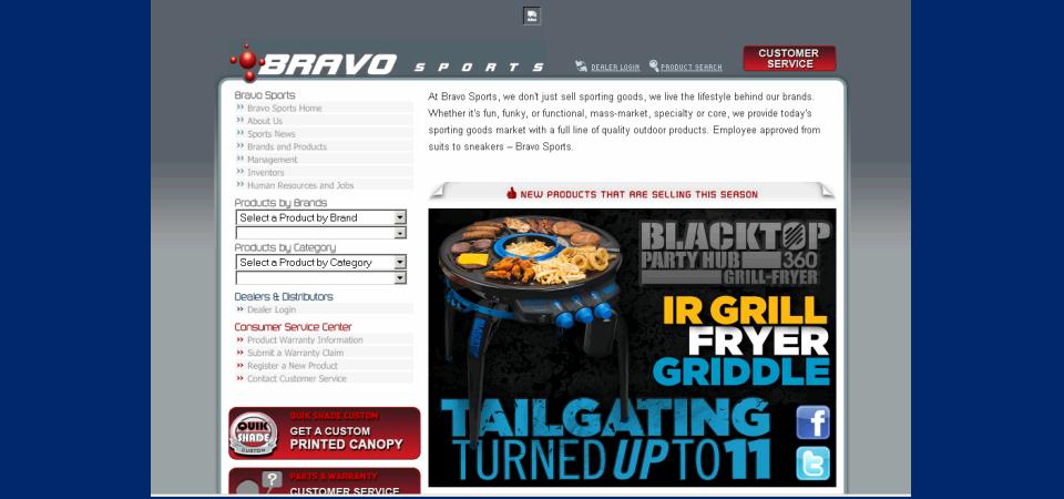 Bravo Sports web portal