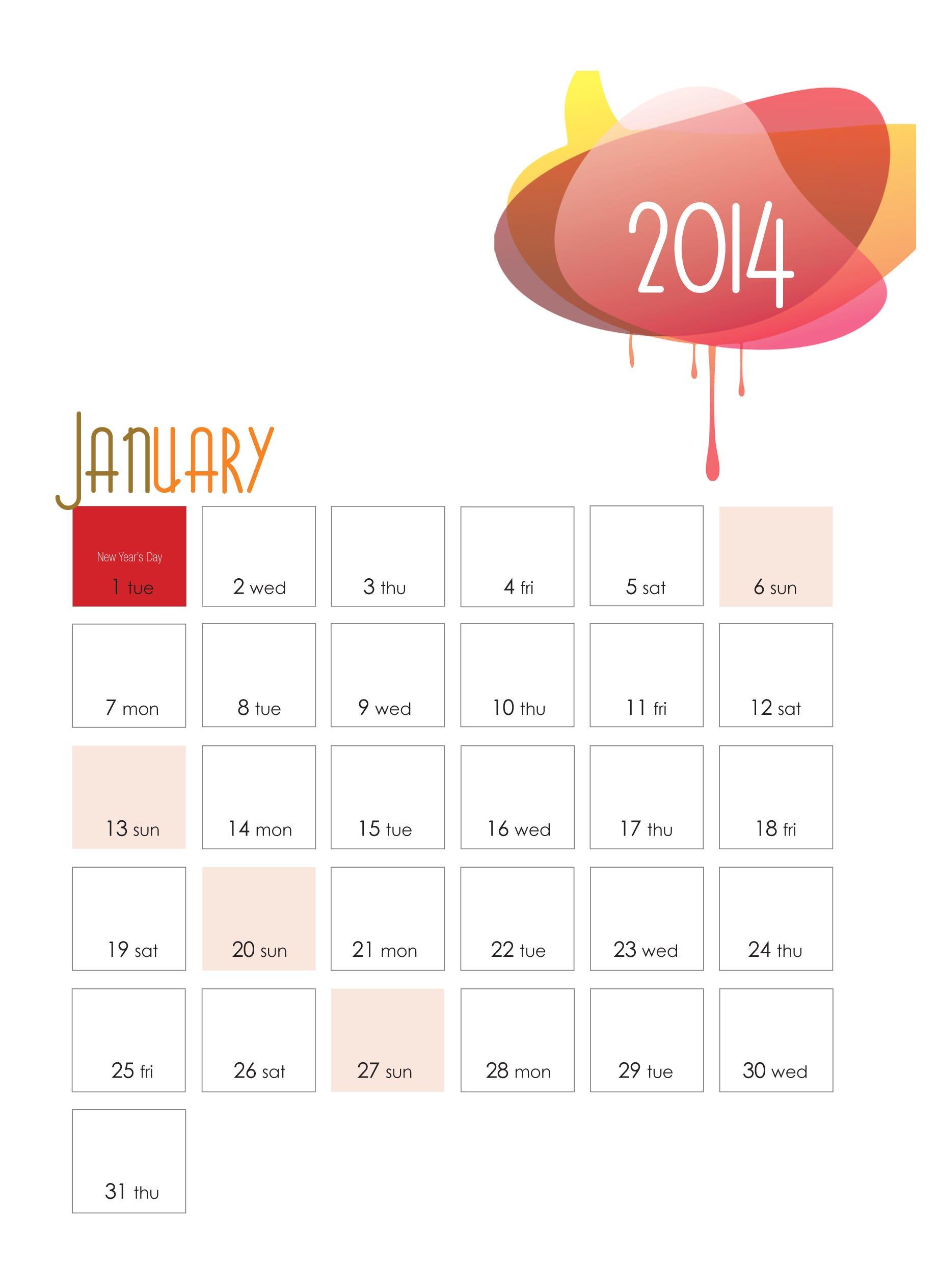Calendar design#3