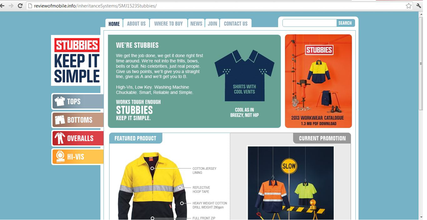 Stubbies Website