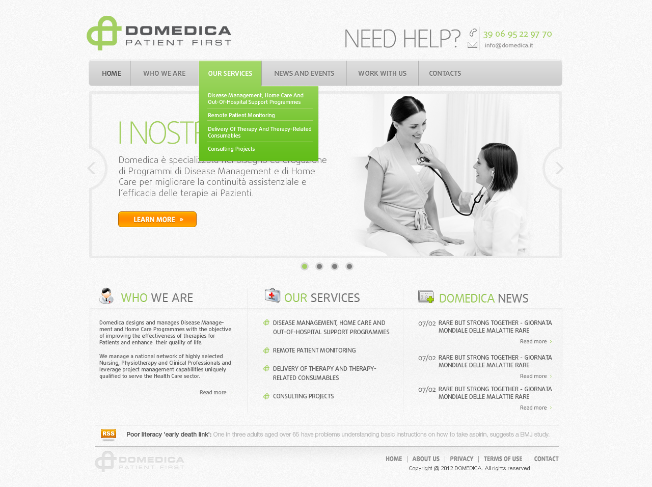 Website Design for DOMEDICA