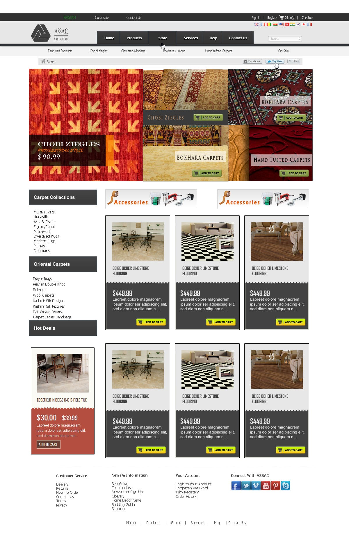 Miscellaneous designing work for websites