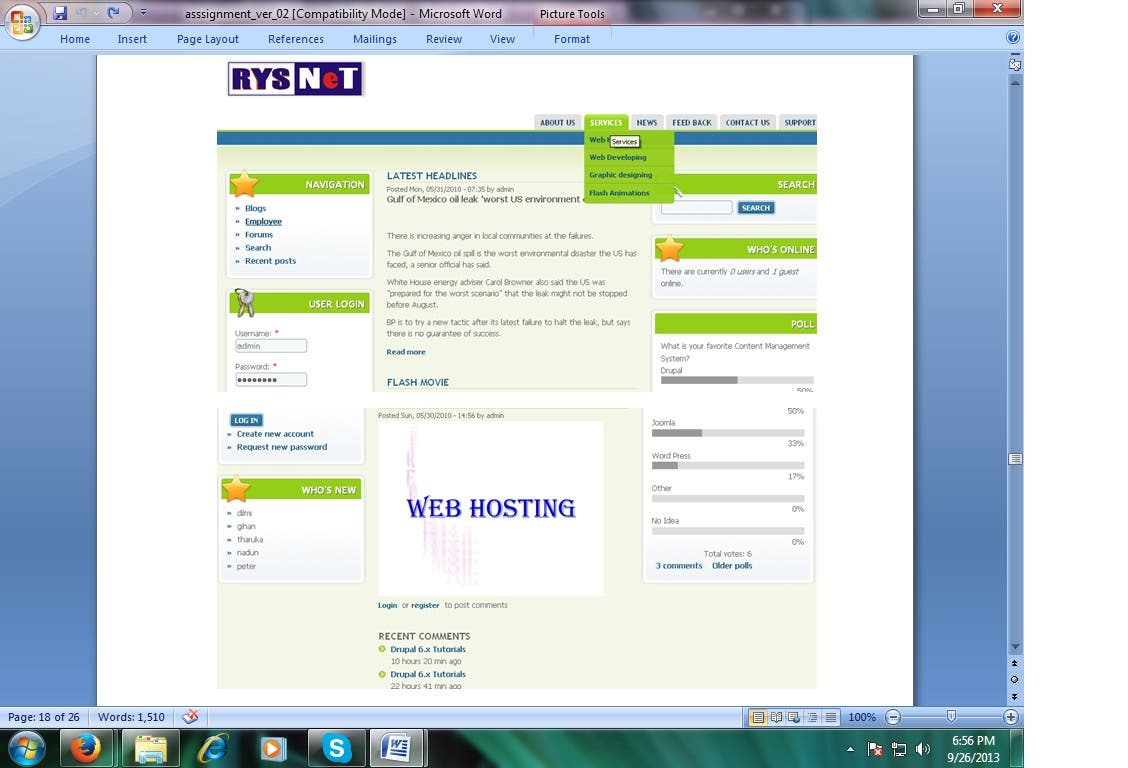 Website using Drupal