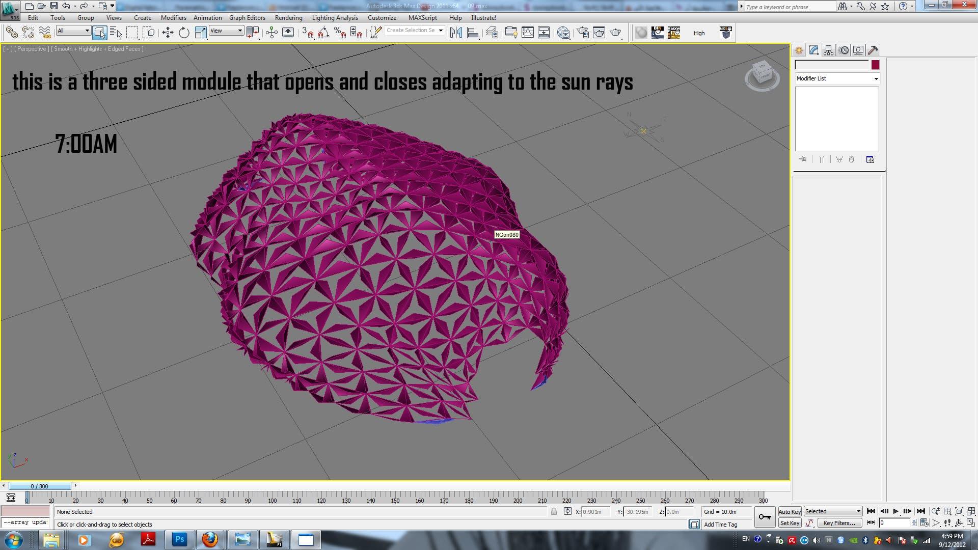 3D parametirc pavilion by ECT