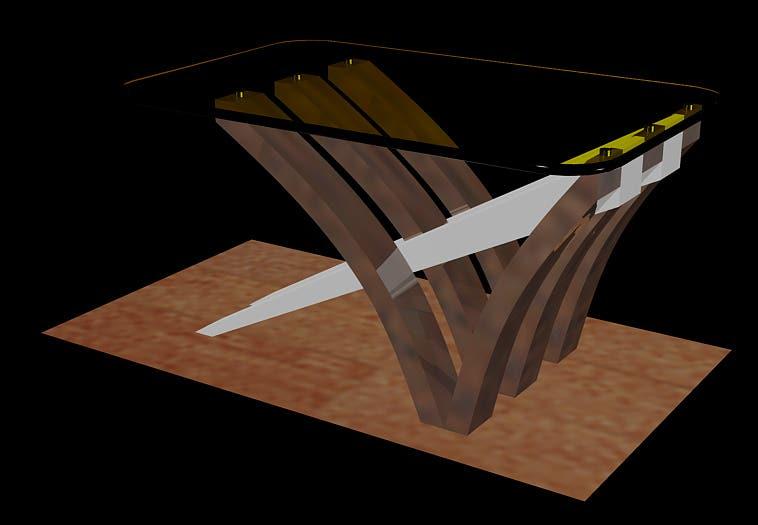 furniture design in auto cad 2013 .. rendering