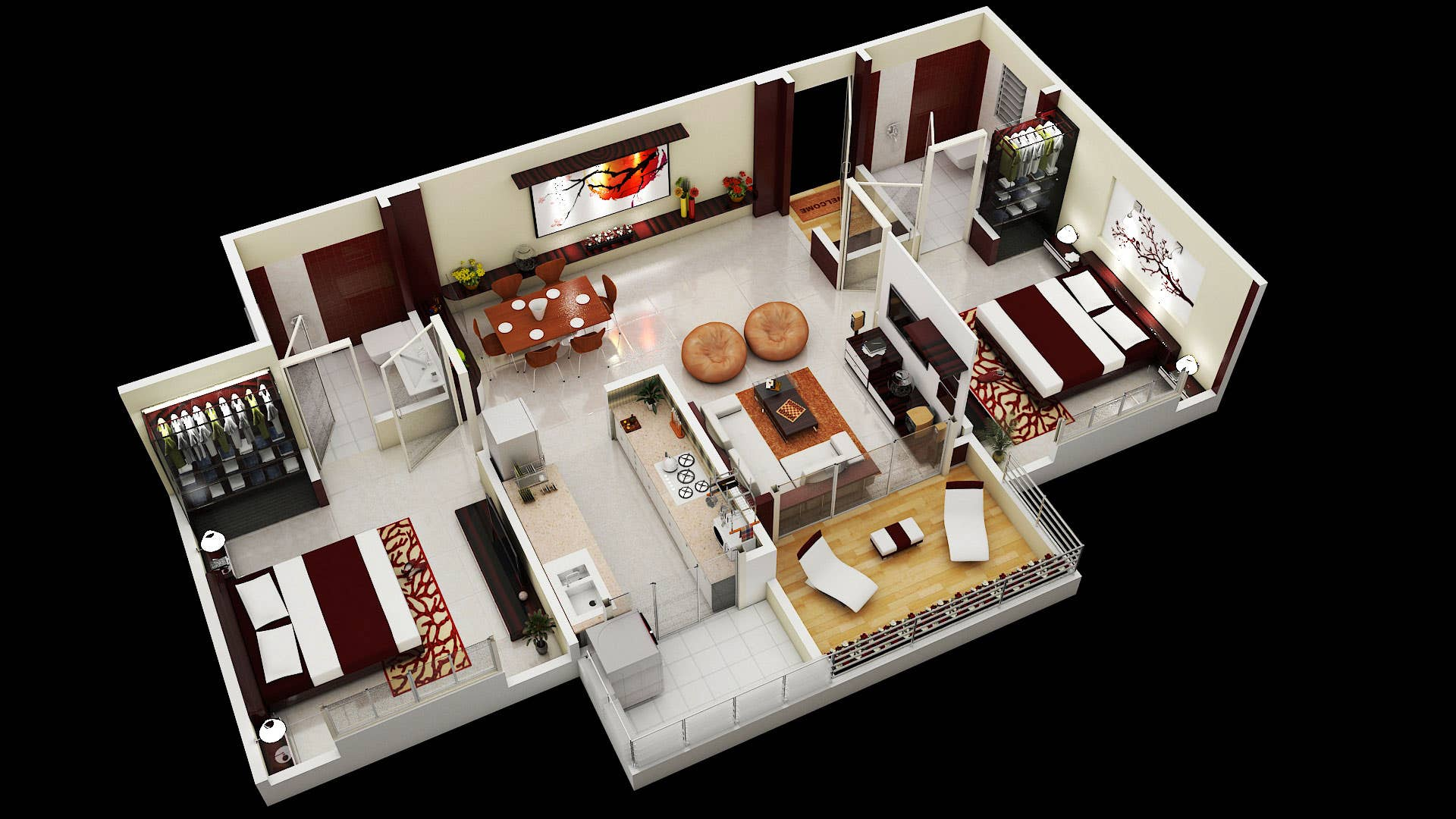 3D Interior Floorplan