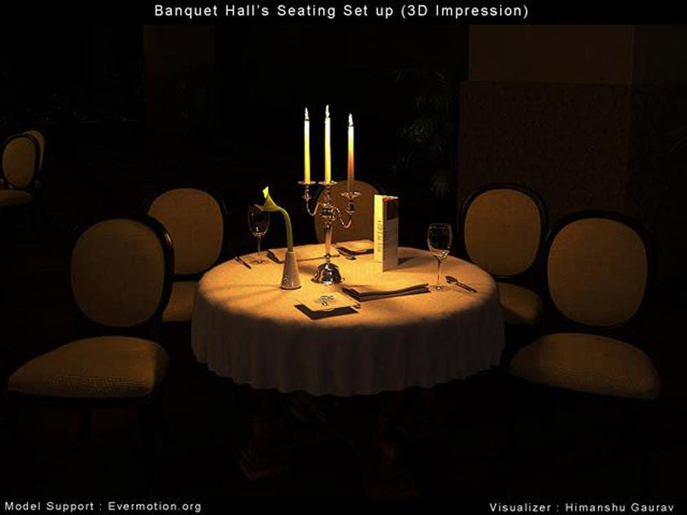 3D Render Illustrative Lighting