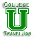 College Travel Job Logo
