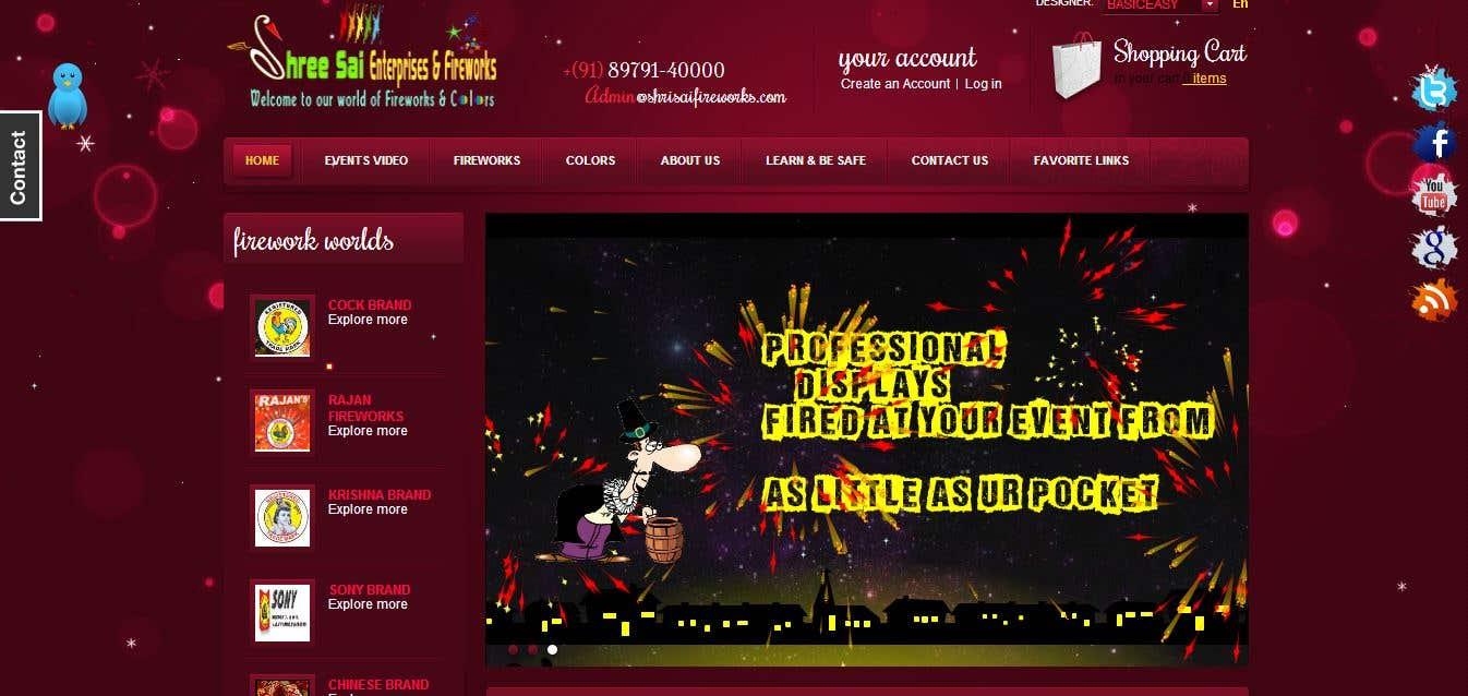 A fireworks enterprises site .