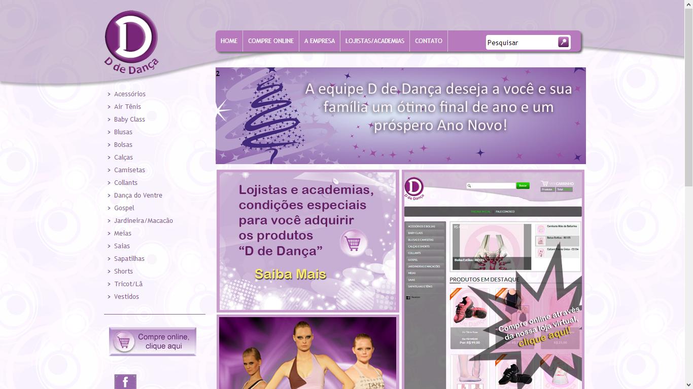 D de Dança Website