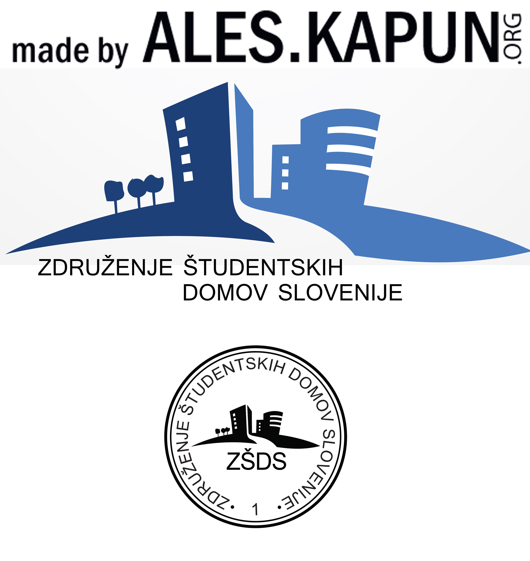 Logo and stamp of organization - Slovenija