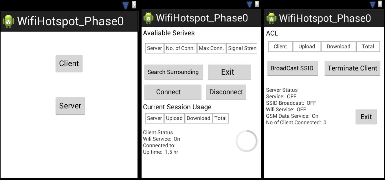 Wifi Hotspot Prototype application