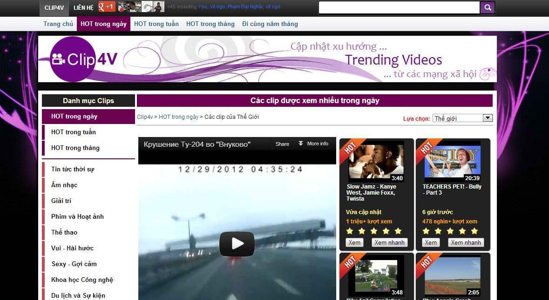 Trending Video Website