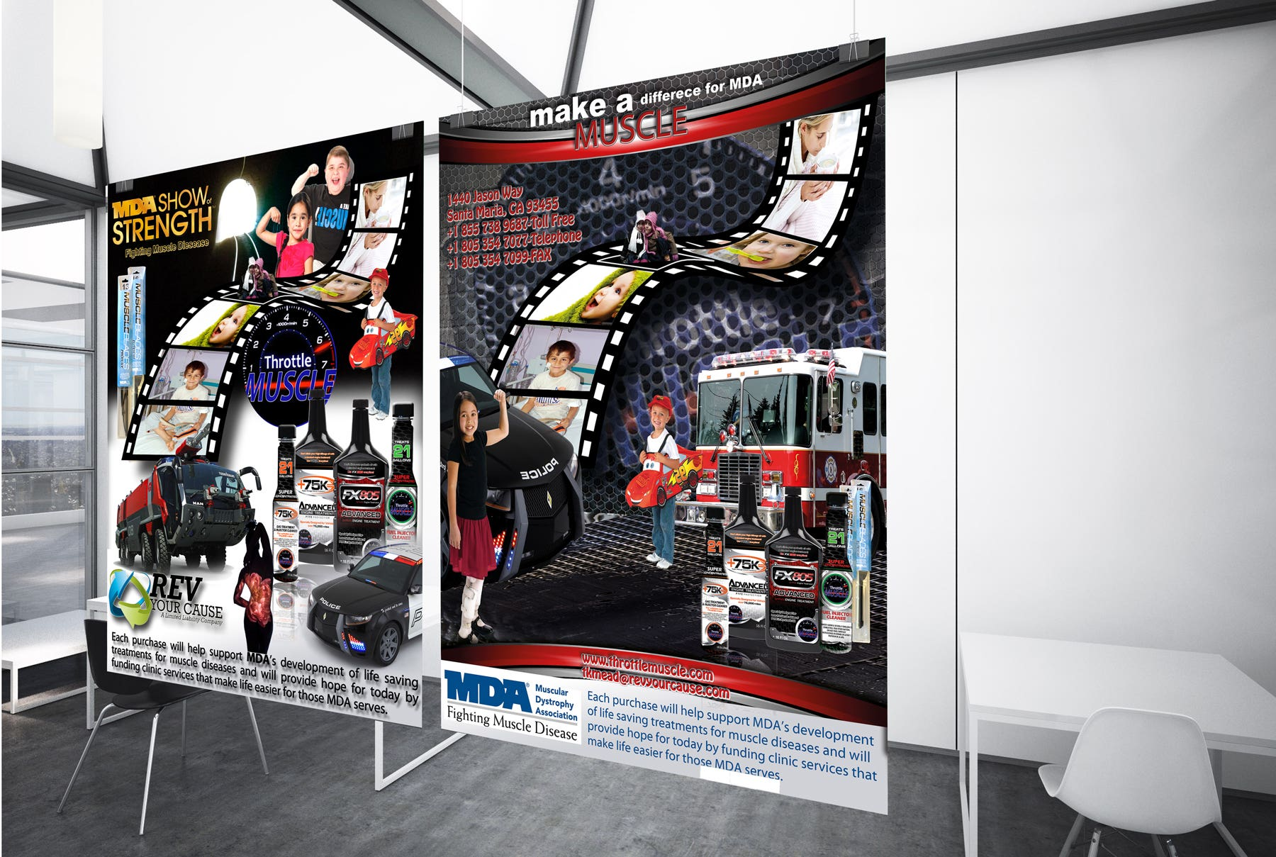 Advertisement Design for Throttle Muscle (MDA) Contest