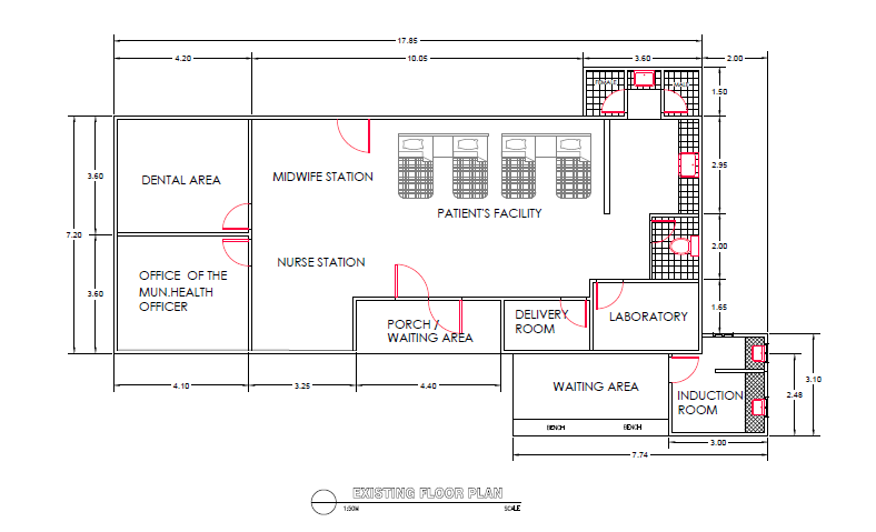 Autocad Design of Health Center in Rural area