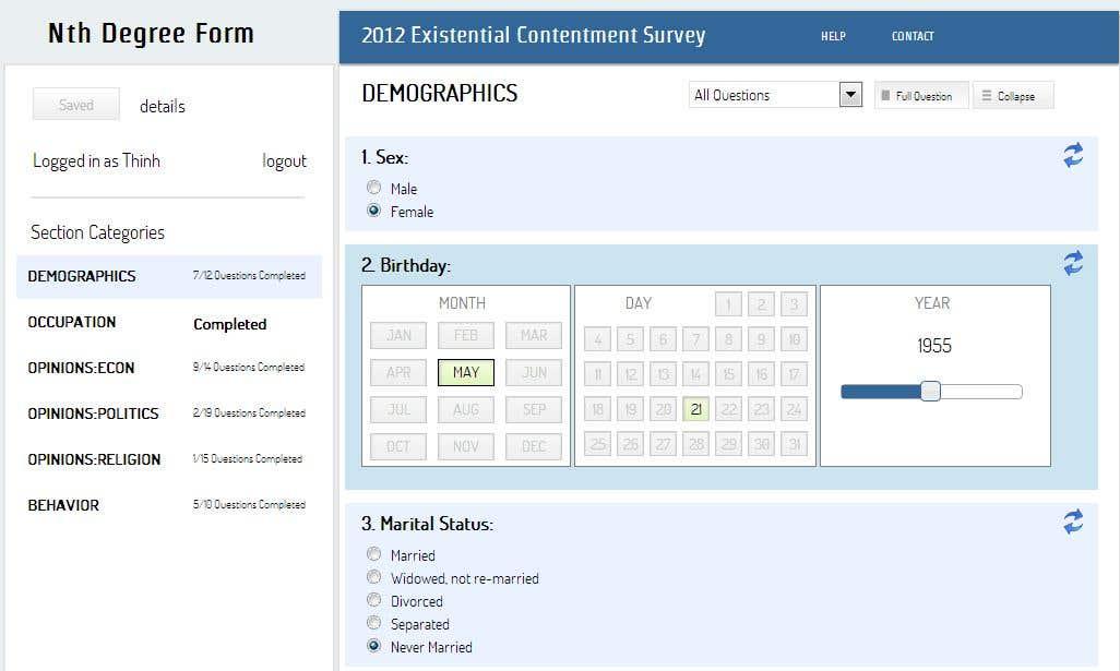 Online-Survey system