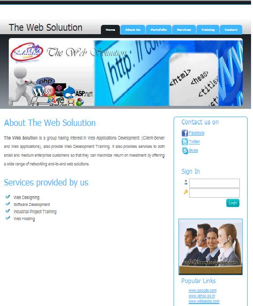 The Web Soluutiuon