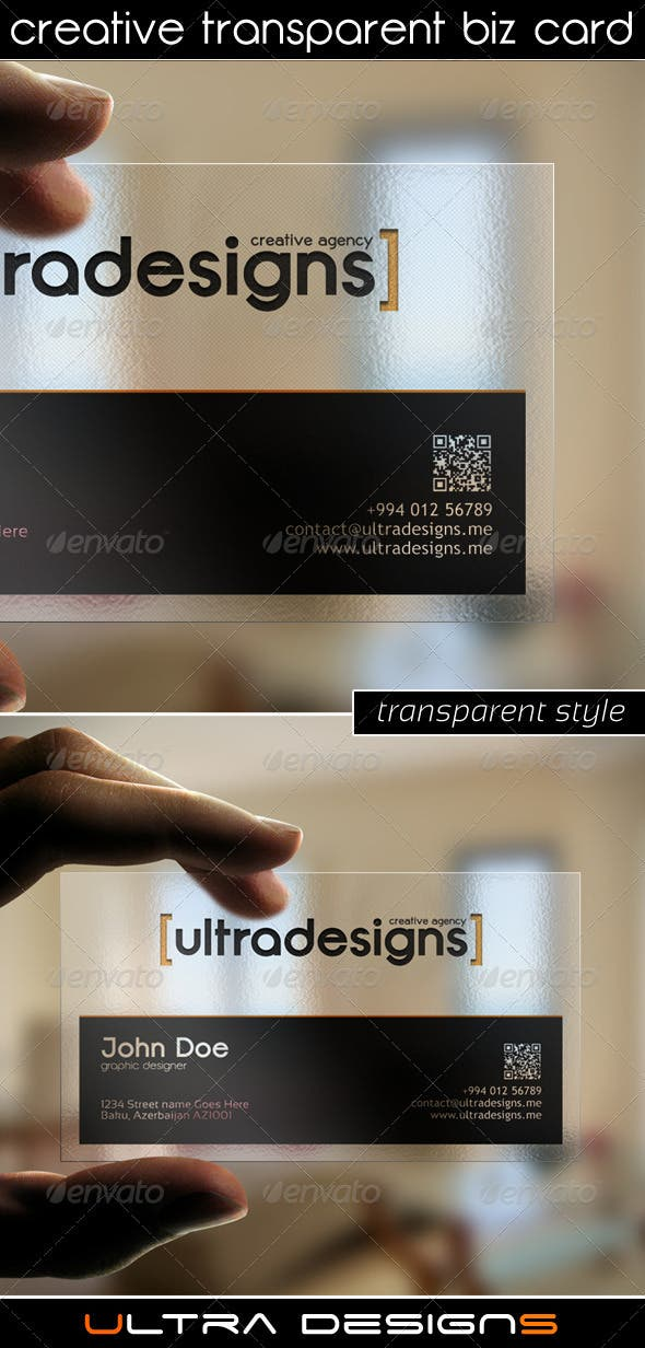 Creative Transparent Business Card