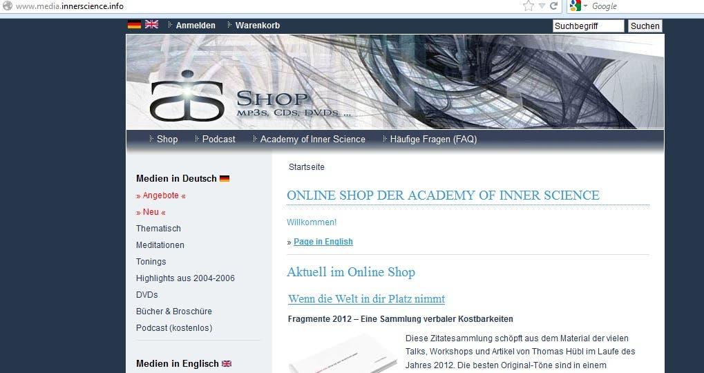 install ZenCart for media online shop on http://www.media.in