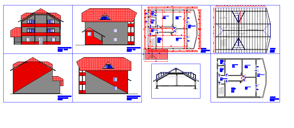 roof projects in AutoCAD