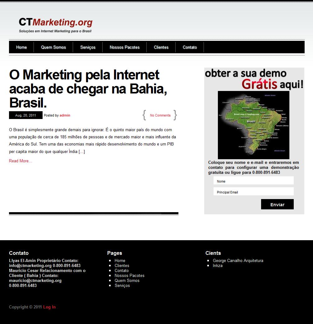 Ct Marketing project in wordpress.