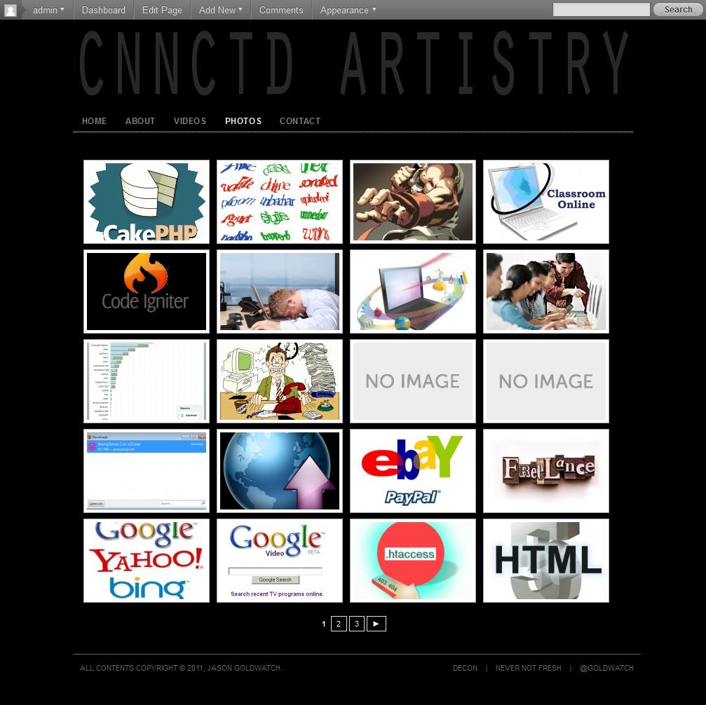 cnnctd artistry website