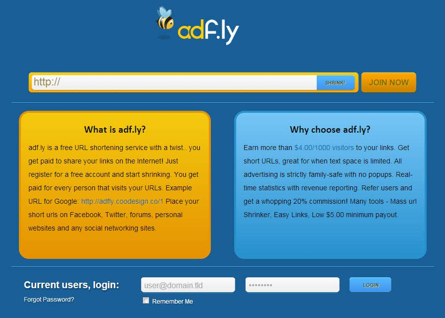 Adf.ly Clone Project