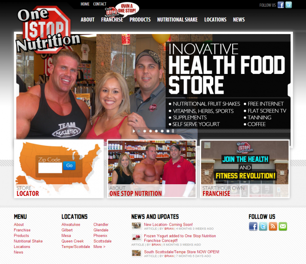 OneStopNutrition.com Website Design and Internet Marketing