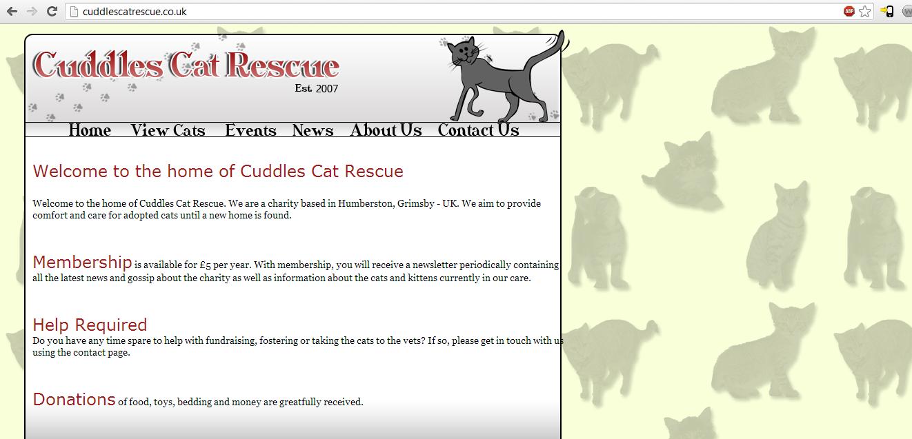 Cat Rescue Website