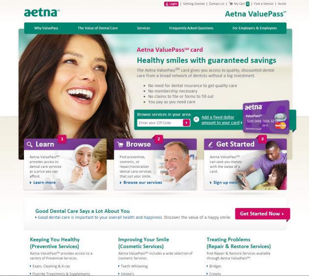 AetnaValuePass.com Web Design and Internet Marketing