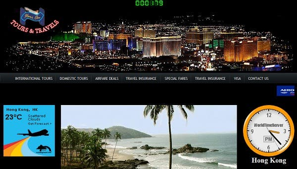 Tours and Travel websites