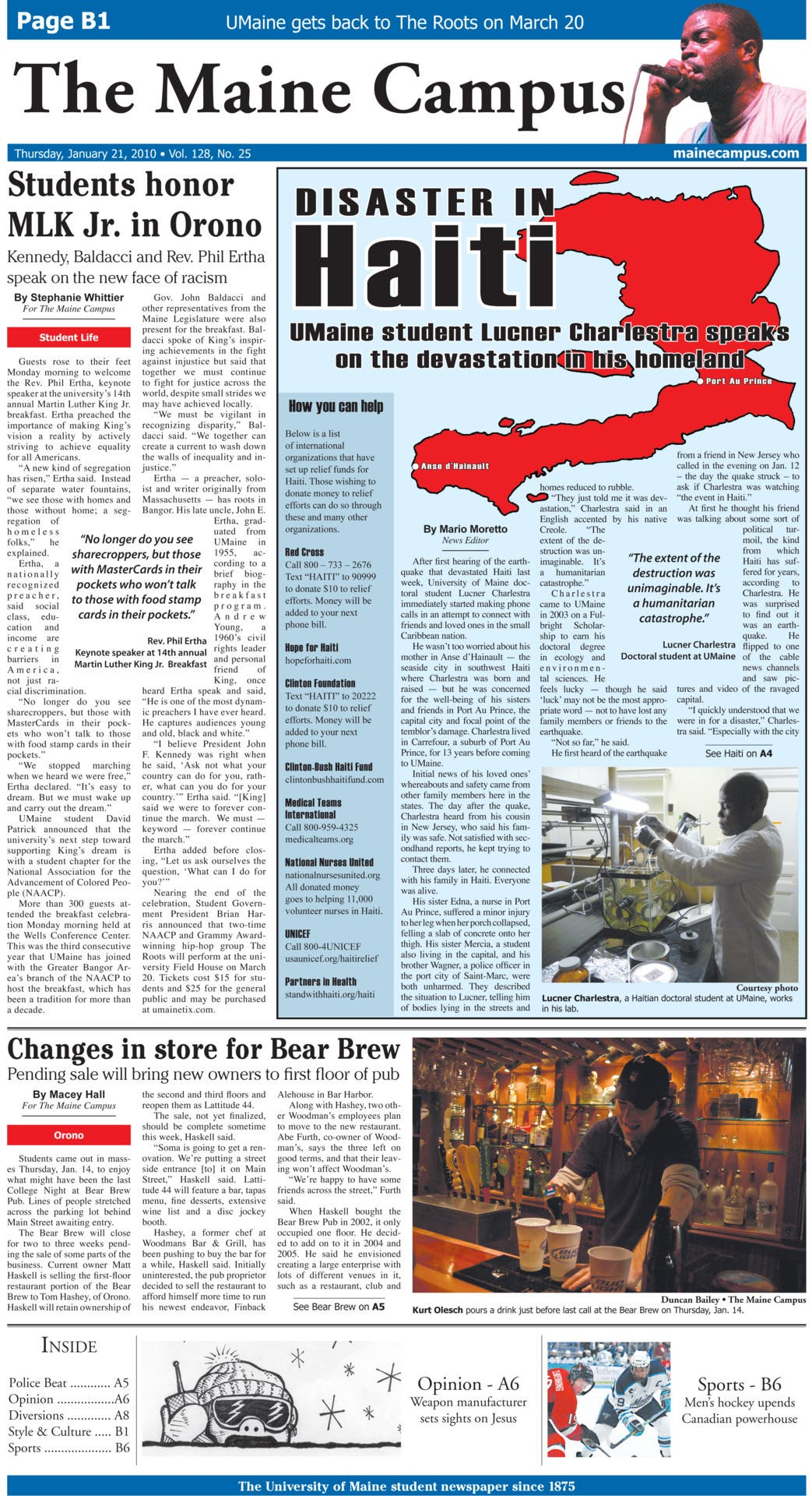 Haiti Newspaper Layout