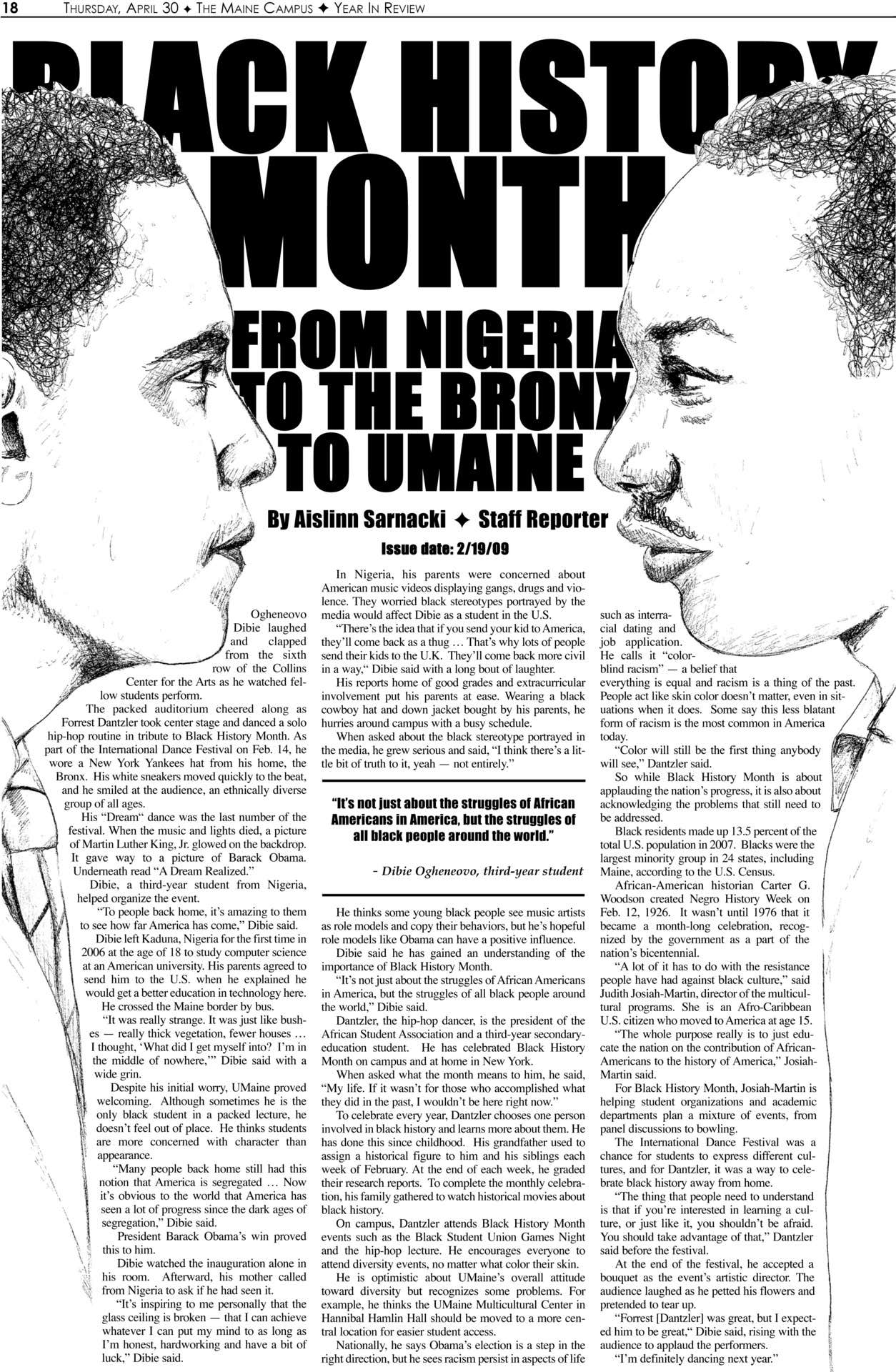Black History Month Newspaper Layout