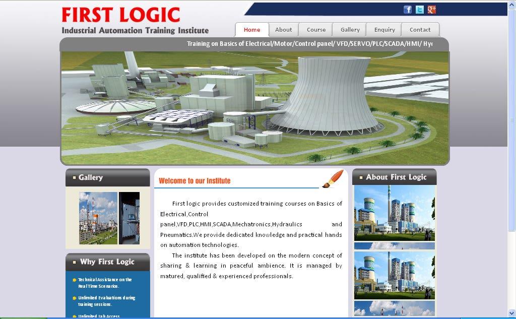 website for training institute
