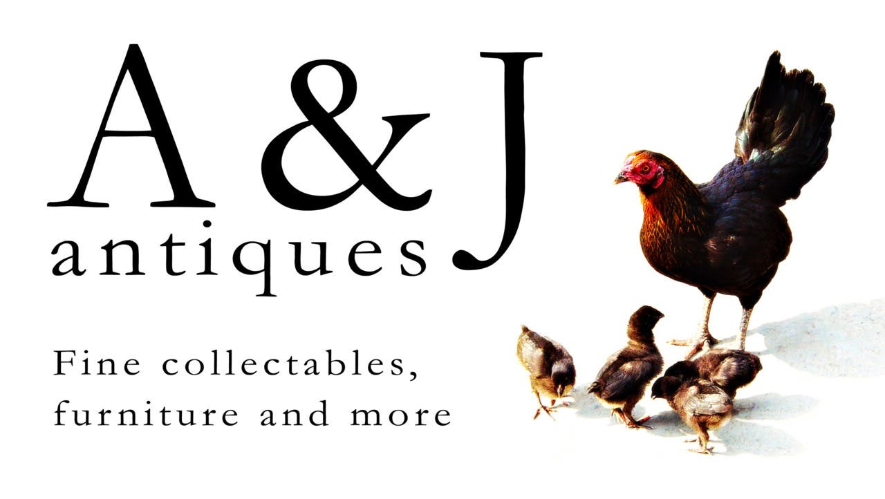 A & J Antiques Business Card