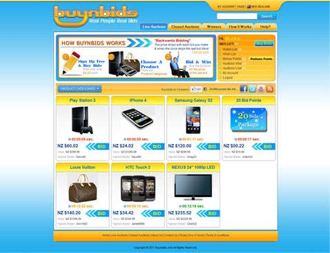 Buynbids - Penny Auction Website