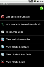 android application (Call Blocker Free)