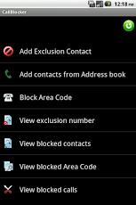 android application (Call Blocker Free)