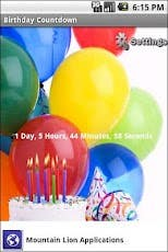 Brithday Coutdown in Android & iPhone