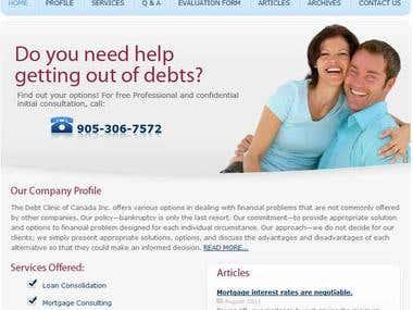 Financiancial Website