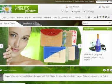 Gingers Garden eCommerce