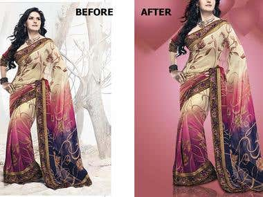 Background removal and image editing