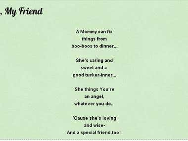 My Mommy My Friend